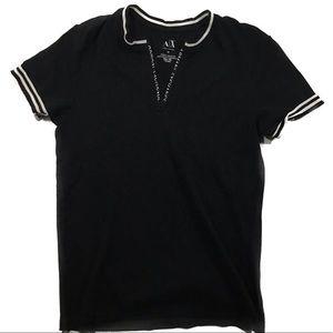 Armani Exchange medium men's polo shirt